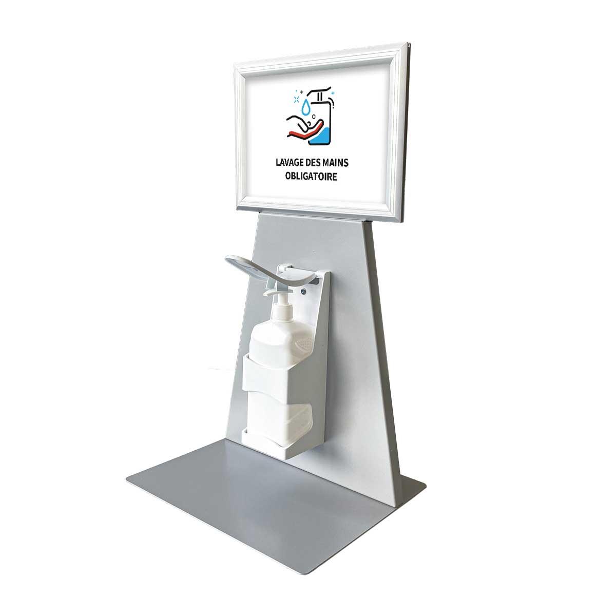 Distributeur de gel hydroalcoolique pour comptoir
